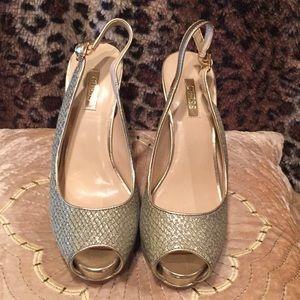 Guess high heels, snakeskin, New, never worn, 7M